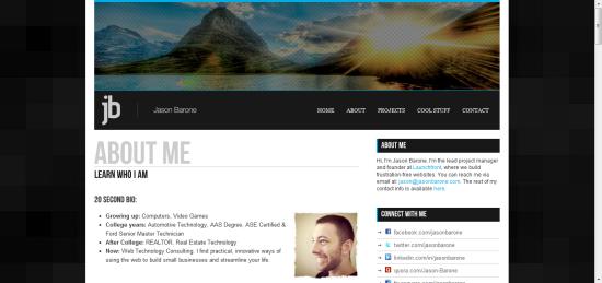 JasonBarone.com Squarespace review