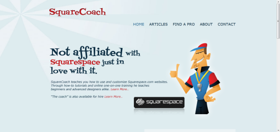 Squarecoach.com is built on Squarespace.