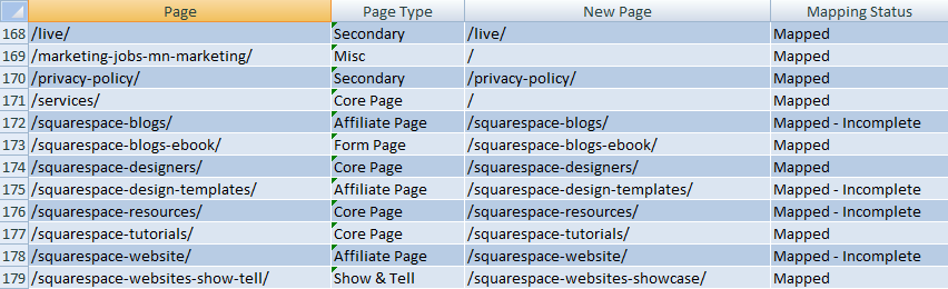 Create a map in Excel from v5 to Squarespace 6.