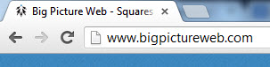 Big Picture Web's favicon is a tiny version of our logo.