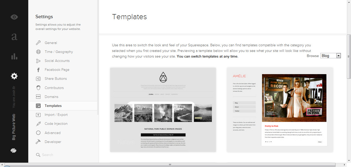 (Click to check out Squarespace 6's ~30 kick-butt, mobile-friendly templates.)