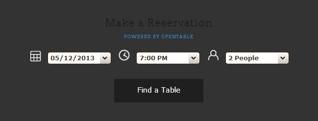 Embed a Squarespace OpenTable reservations table on your website.