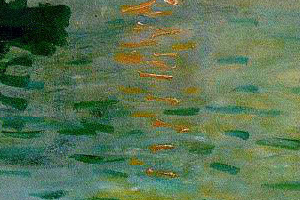 These brushstrokes appear to beabstract when viewed in a smaller context.