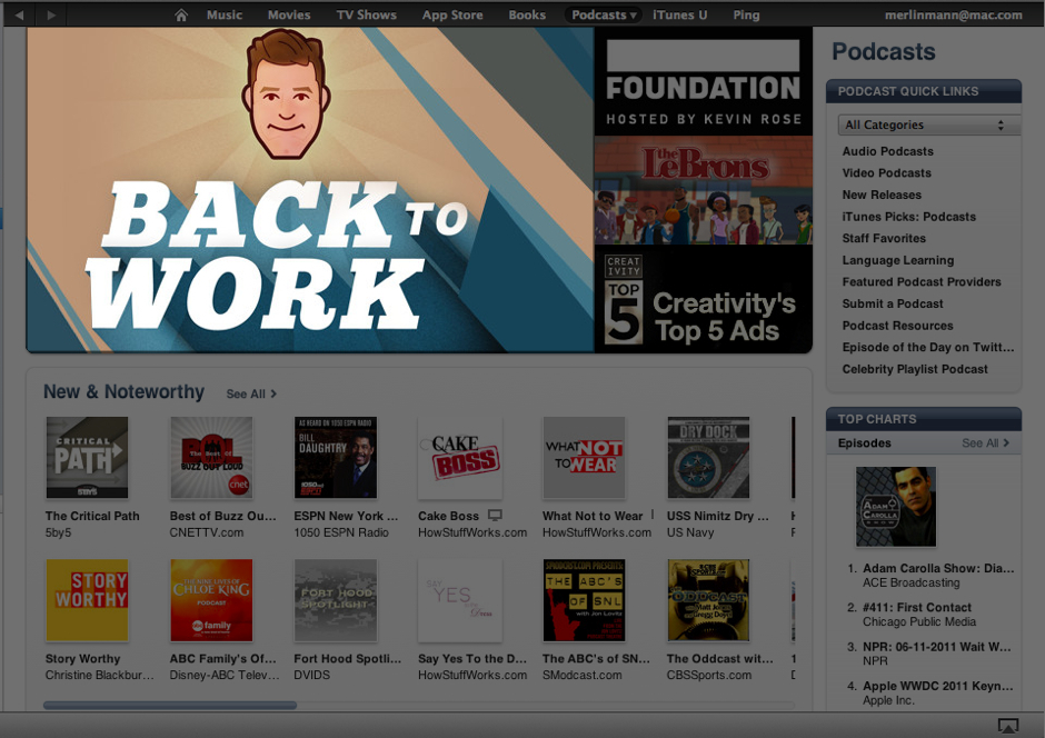 We've been featured on the iTunes store. Which is kinda cool.