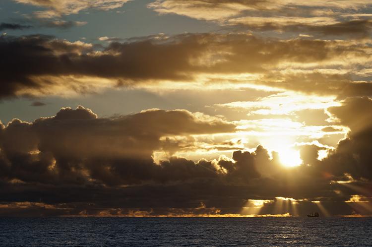 """big sky, little boat"" by  liz grandmaison  (bunbury, western australia, australia)"