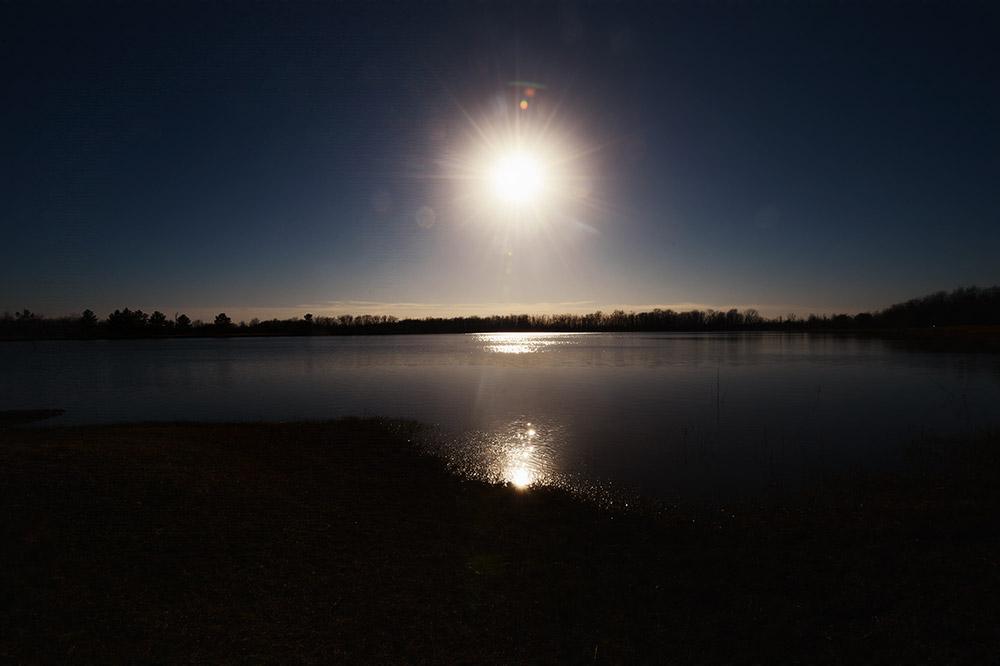 George Bush Reservoir, Houston, Texas, January 19, 2014