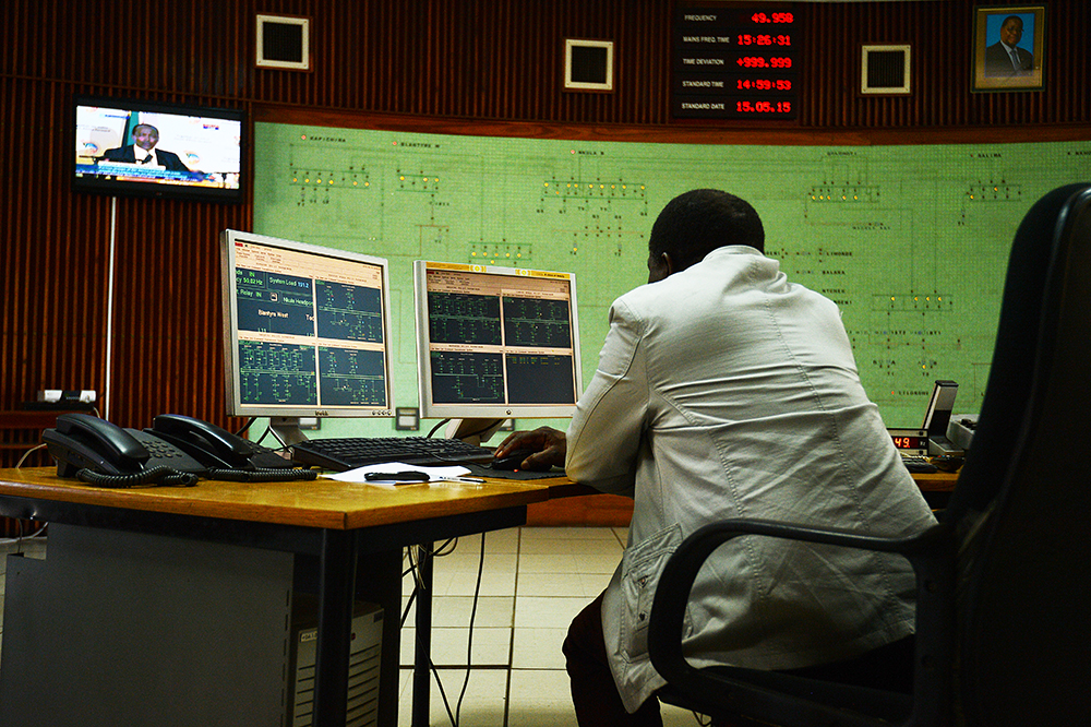 The electrical supply for the entire country of Malawi is managed from this one tiny control room. It's no wonder only 9% of the population has access to electricity -- while the employees of ESCOM are dedicated, they're not working with much equipment.