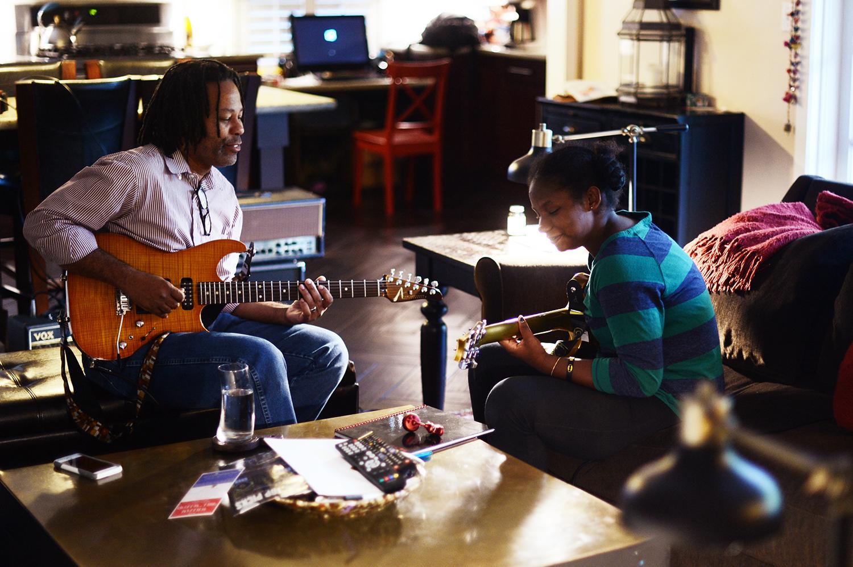 Alex and her beloved guitar teacher, Leland. October 26, 2016.