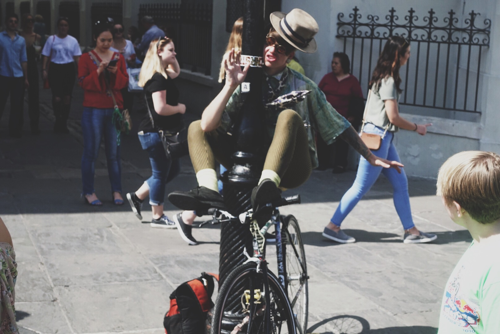 Jackson Square   is always good for a few performance artists.
