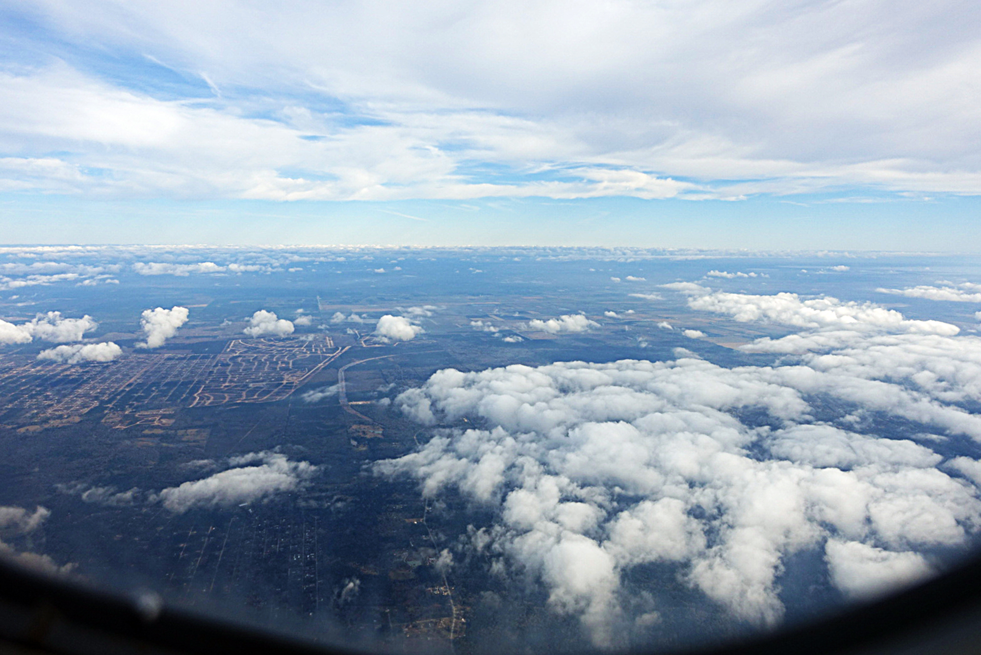 Somewhere between Houston and New York City, Tuesday, January 6th, 2019.