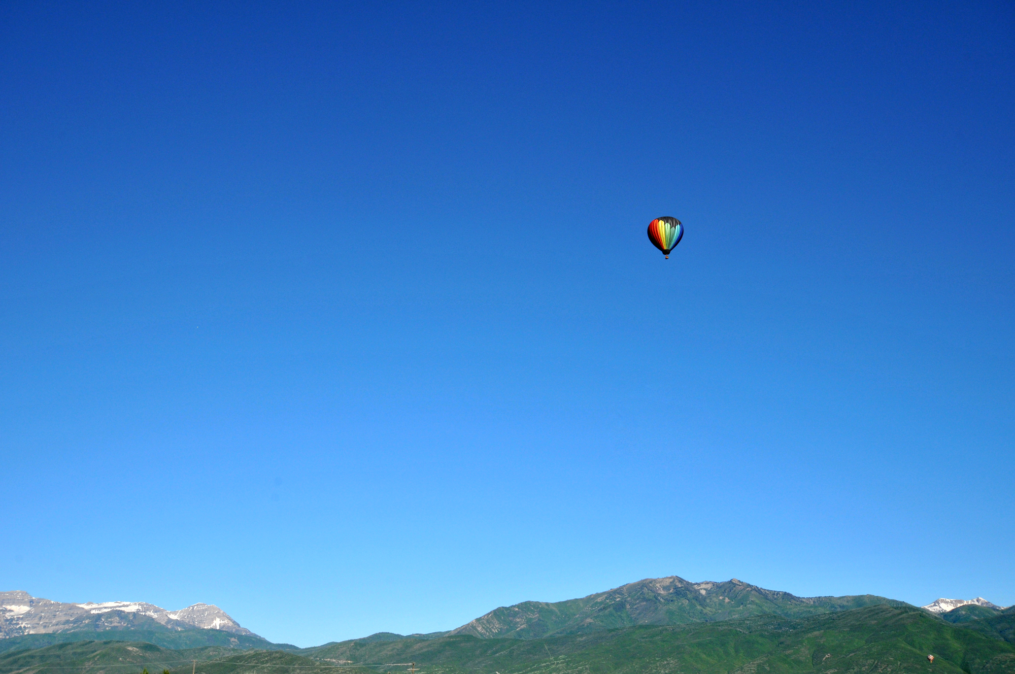 About to take off in a hot air balloon, Park City, Utah, June 2010 (number 67)