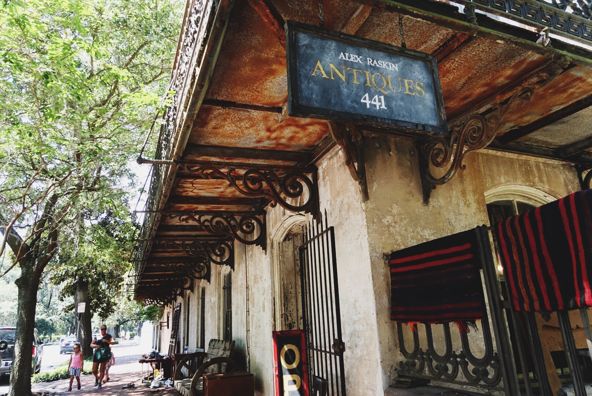 """The incredible Alex Raskin Antiques, described as """"more museum than antique store."""" It was incredible."""