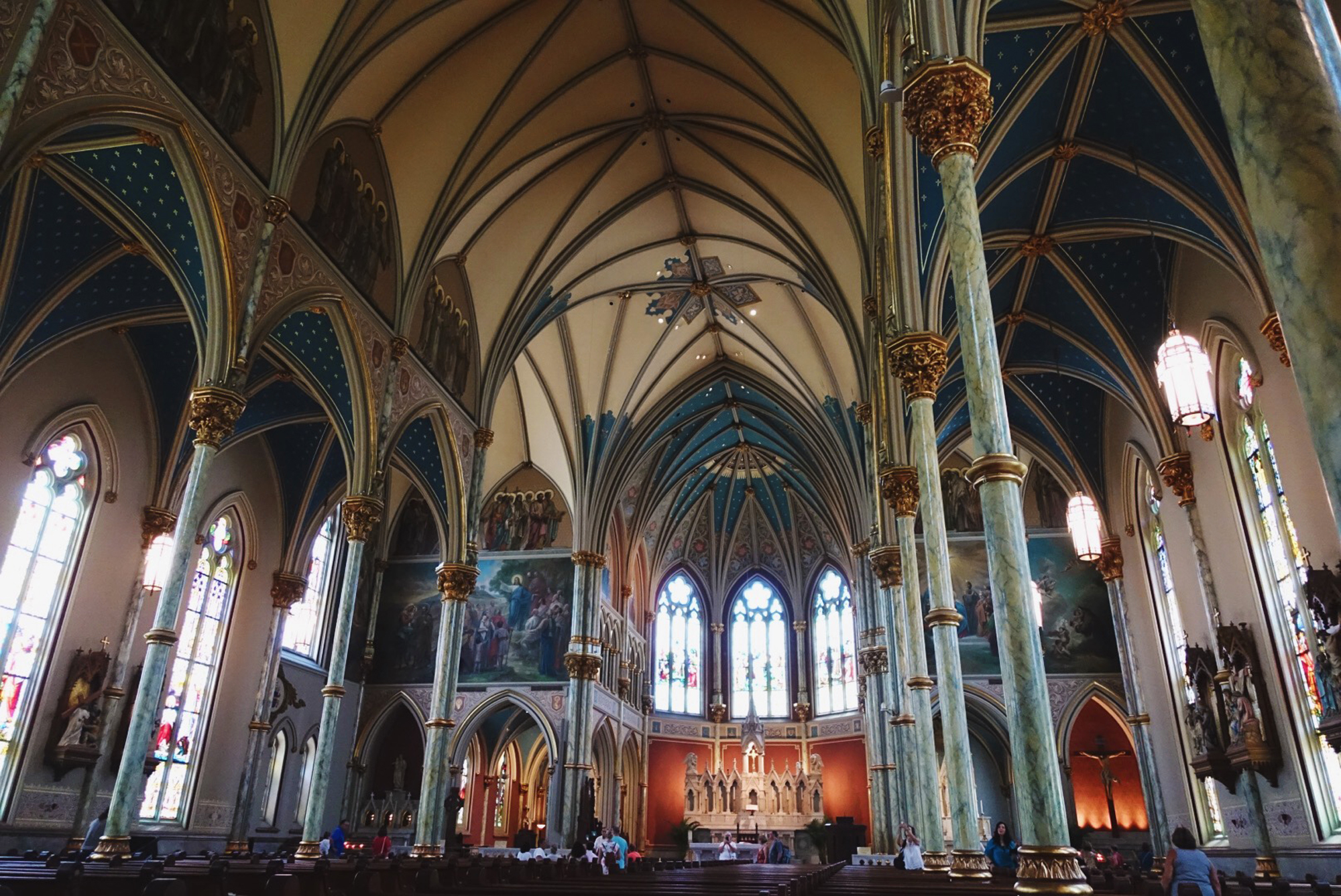 The interior of The Cathedral of Saint John the Baptist.