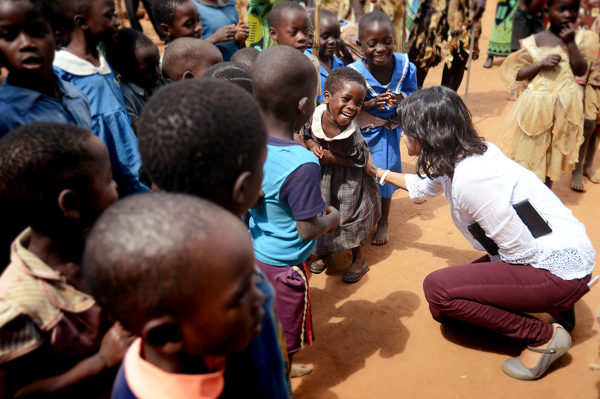 My friend     Ana Flores     making friends in     Malawi    , May 2015.