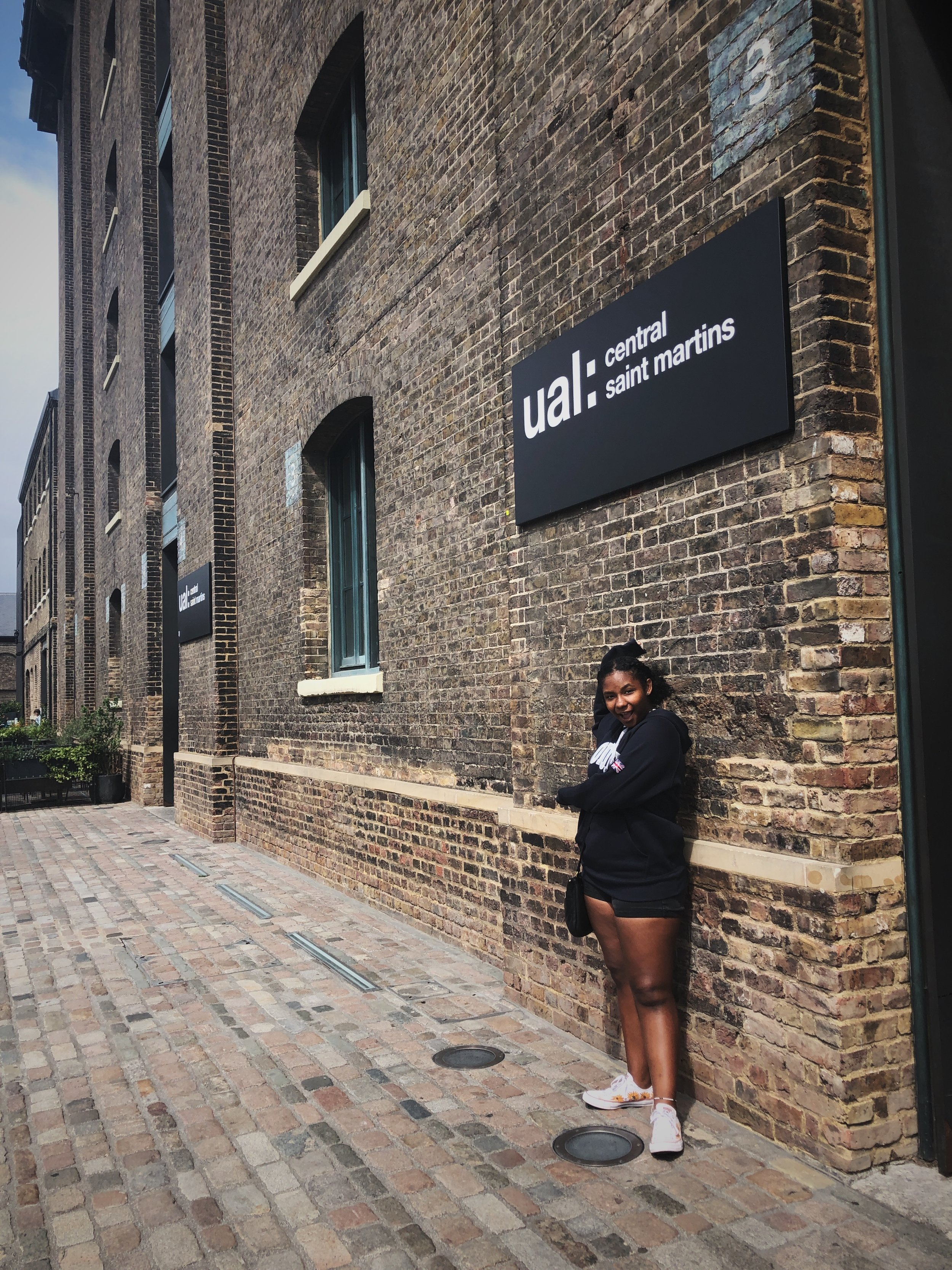 Much of the Central Saint Martins campus of the University of the Arts London was closed for the summer; however, we saw enough that Alex was interested in learning more. Definitely adding to the application list.