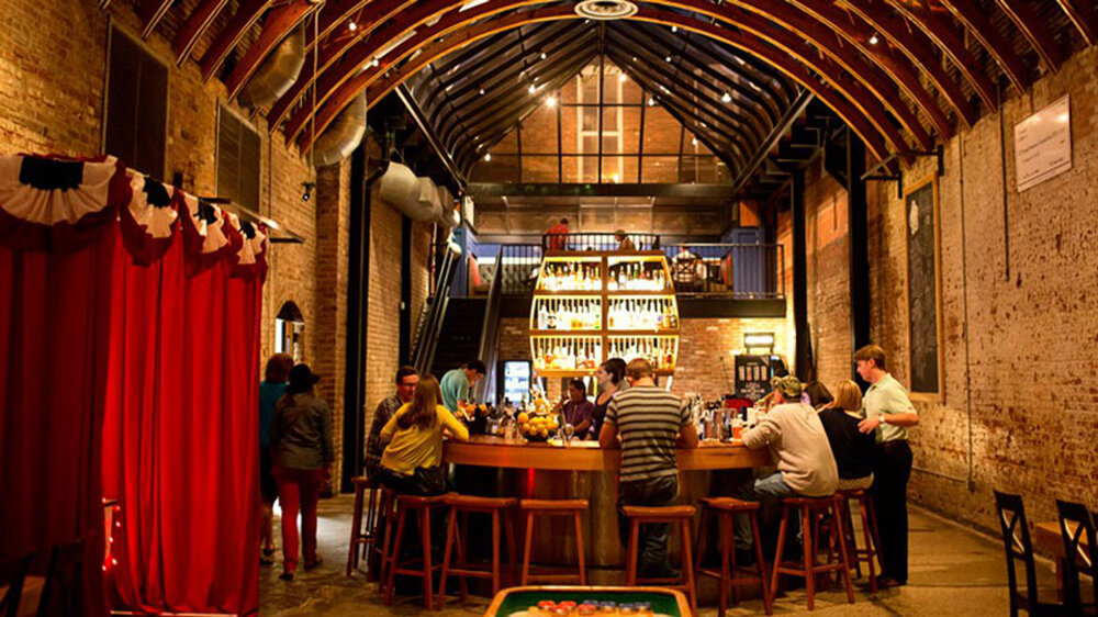 Okra Charity Saloon  . A personal favourite. It's a beautiful space, and the concept is simple: for each drink purchased, guests receive one vote that they may cast that night for one of four charities selected by OKRA's members. The charities are all locally based. The charity with the most votes at the end of the month receives the next month's proceeds. How cool is that?