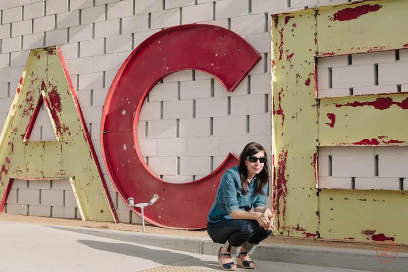 Sheri Silver  wanted a portrait in front of the iconic Ace Hotel sign, she is such a rock star.