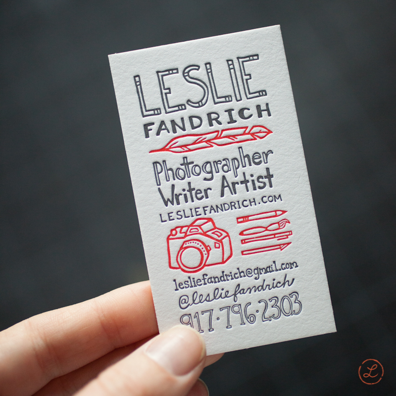 New business cards printed at Igloo Letterpress.