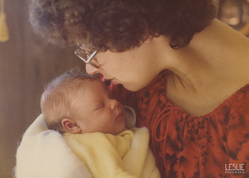 1975 - My Mom as a new mother with me as a baby.