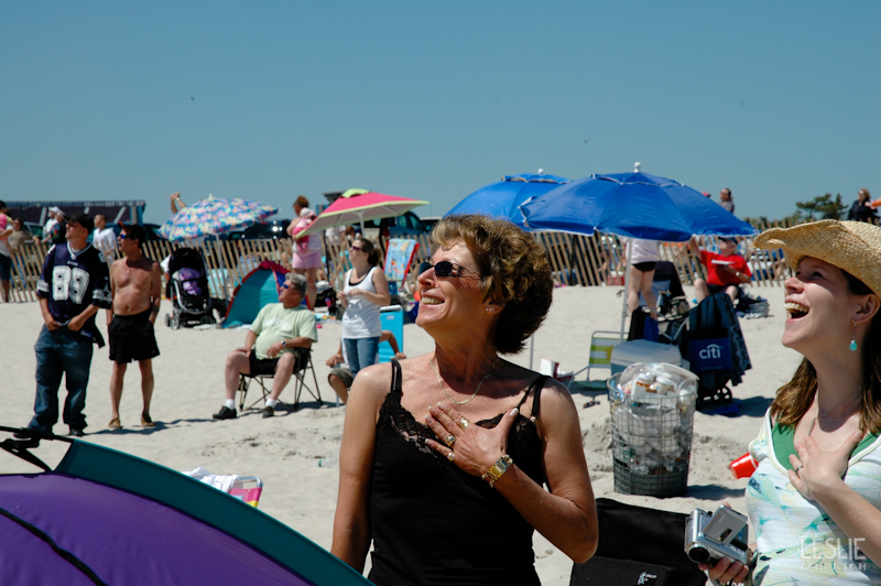 2008 - Watching fighter jets fly by at a Jones Beach Airshow. So thrilling.