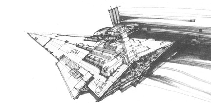 Joe Johnston's initial concept drawing.