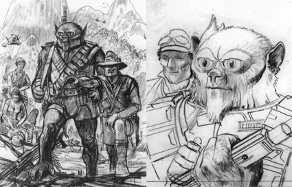 Sketches for the cover of The War for Eternity by Ralph McQuarrie Source: The Art of Ralph McQuarrie, page 34.