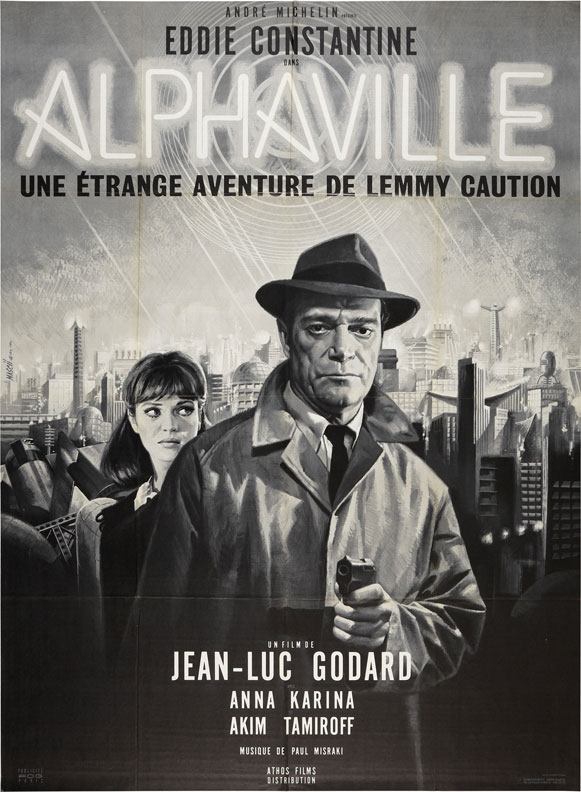 The theatrical poster for  Alphaville  (1965).