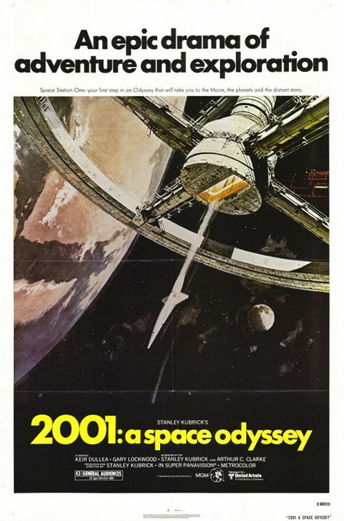 The original  2001: A Space Odyssey (1968)  theatrical release poster