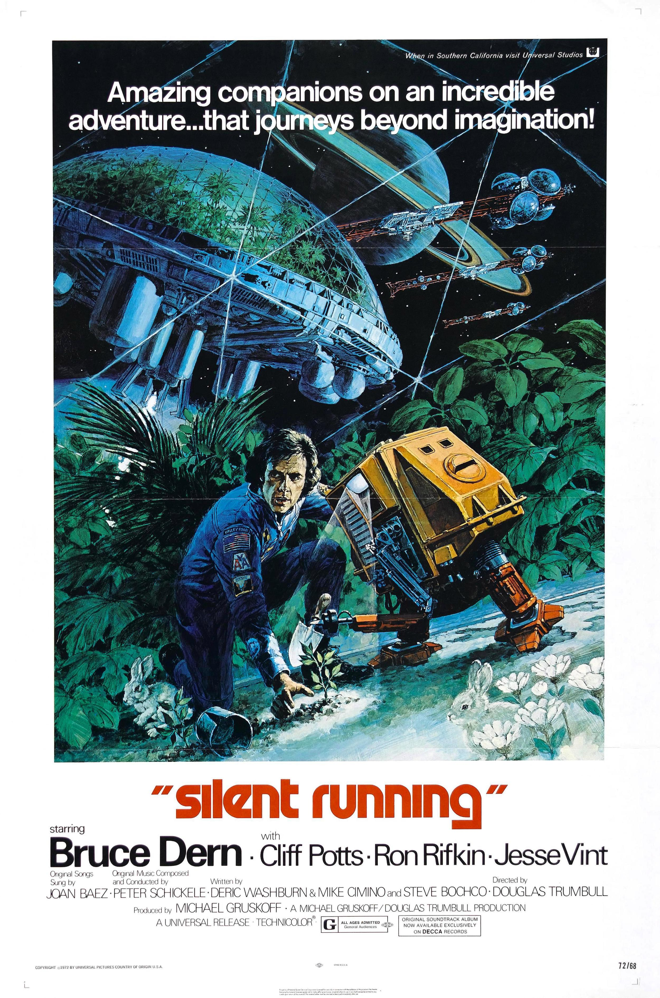 The original 1972 poster for  Silent Running , but George Akimoto.