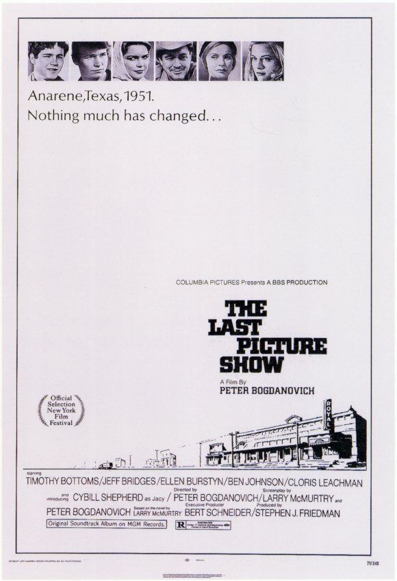 The original poster for Peter Bogdanovich's  The Last Picture Show  (1971) .