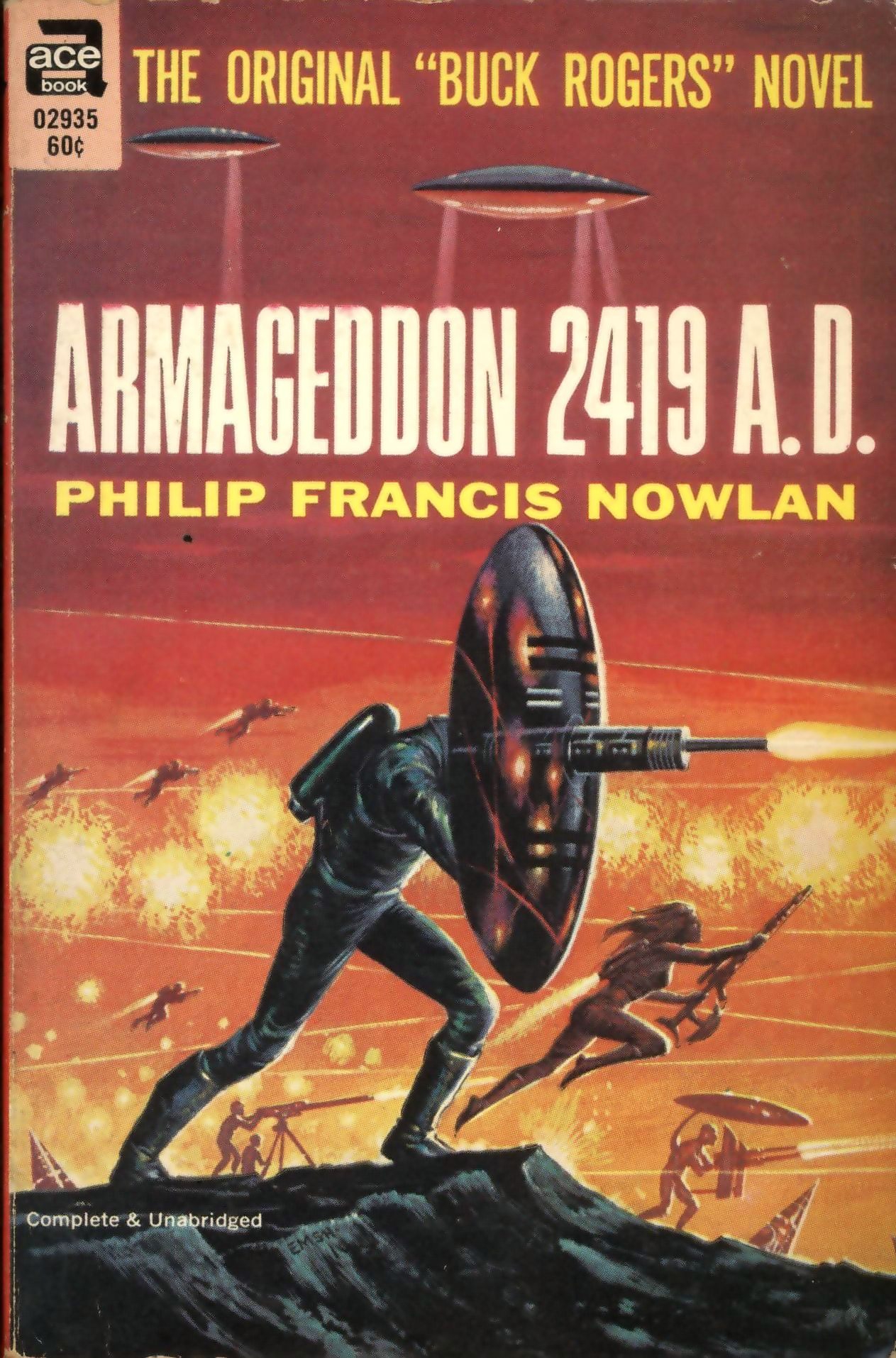 Reprint edition from the 1960s, which combines  Armageddon 2419 A.D.  and  The Airlords of Han .