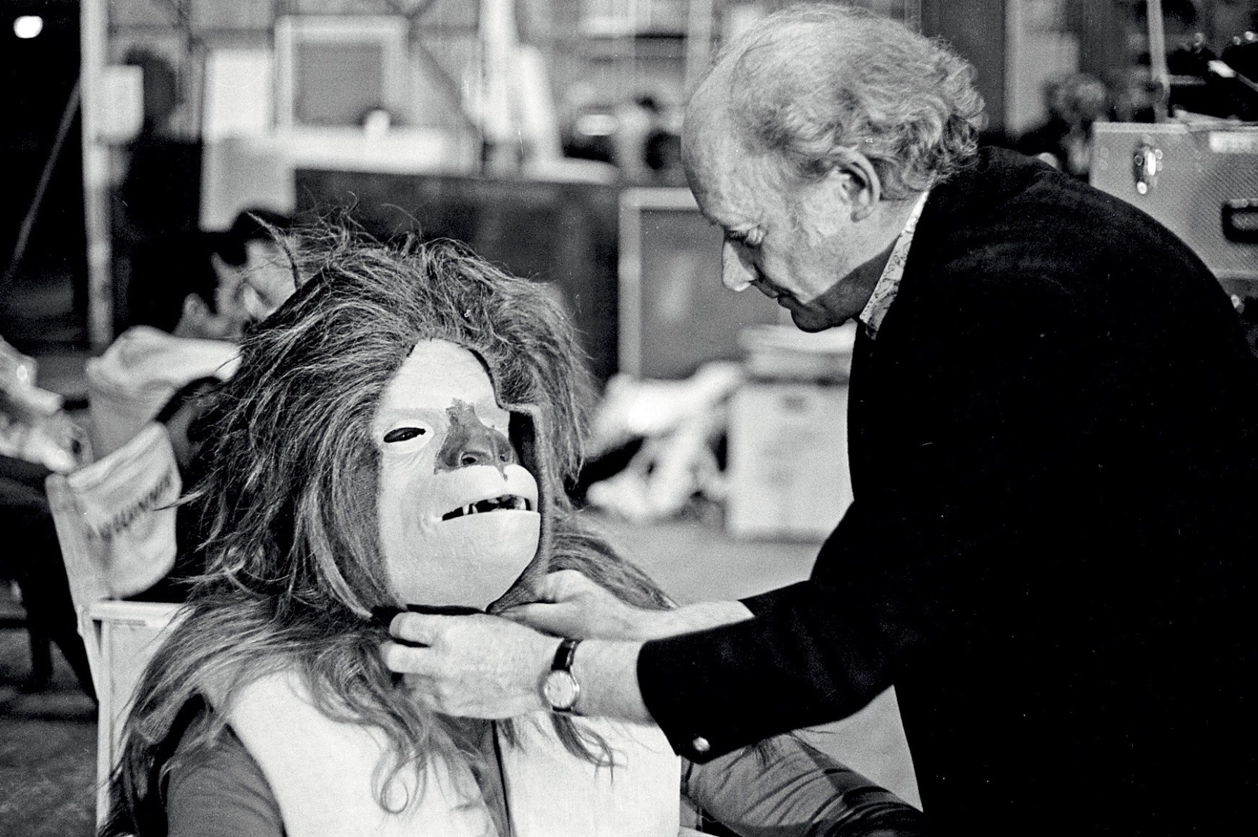 Stuart Freeborn at work on Chewbacca. Source: Unknown.