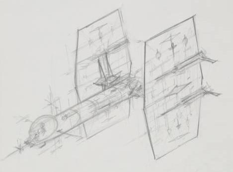 A history of the TIE Fighter is out of scope, so I'll come back to it at some later date. But I think it's safe to say that 'Finned Sausage' will sit with us all for years to come. Here's Colin Cantwell's subsequence drawing.