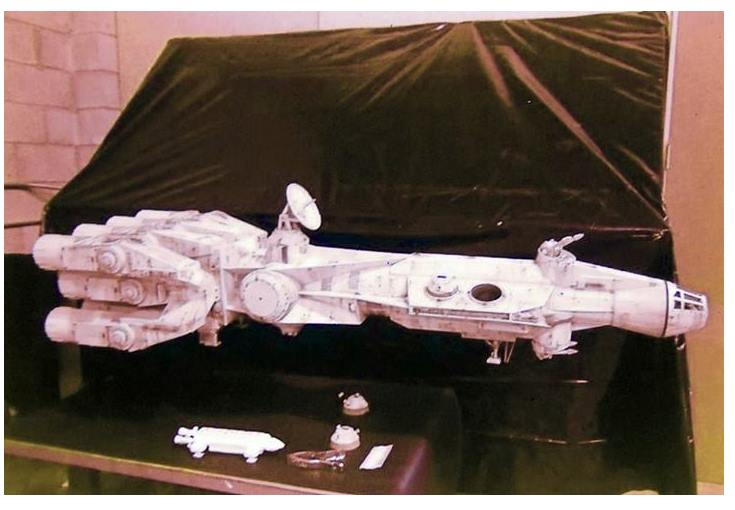 Yep, that's  Space 1999 's Eagle under the not-yet-painted Pirate Ship.