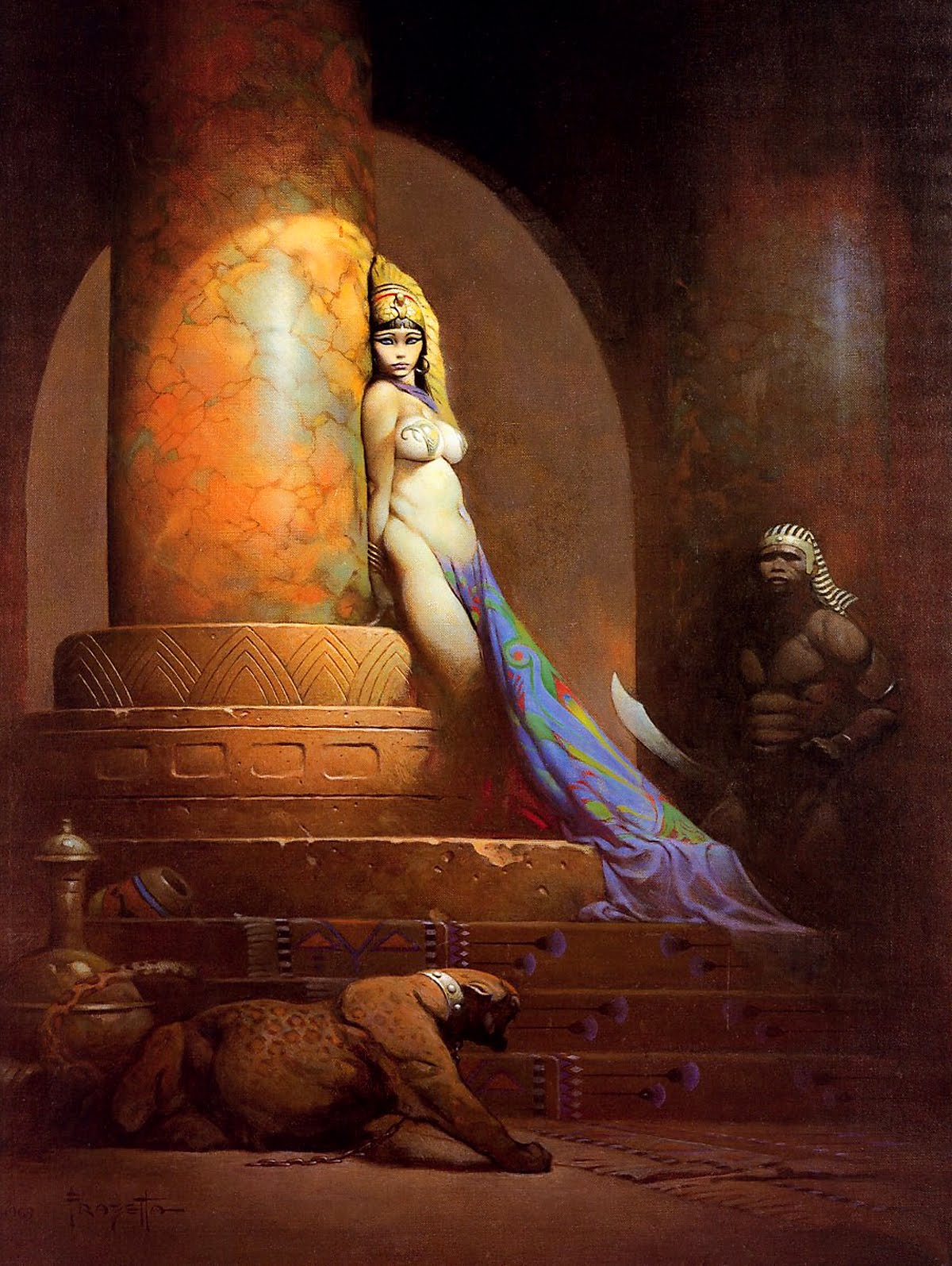 """""""Egyptian Queen"""" by Frank Frazetta (1969)"""