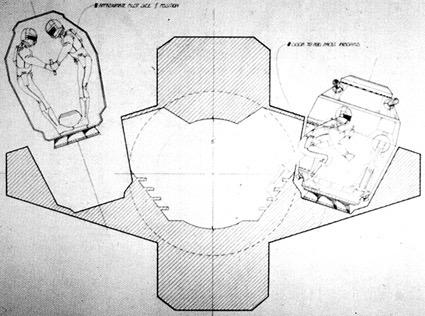 Cross-section escape pod blueprints