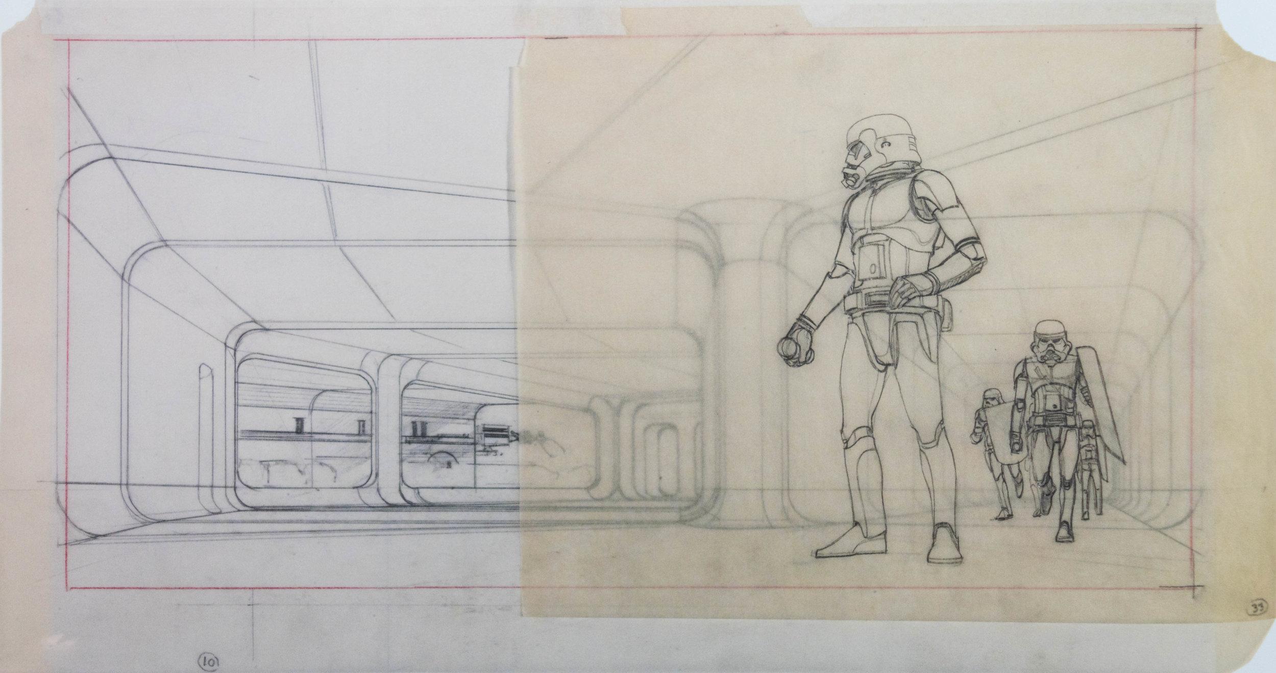 McQuarrie's preliminary sketch.