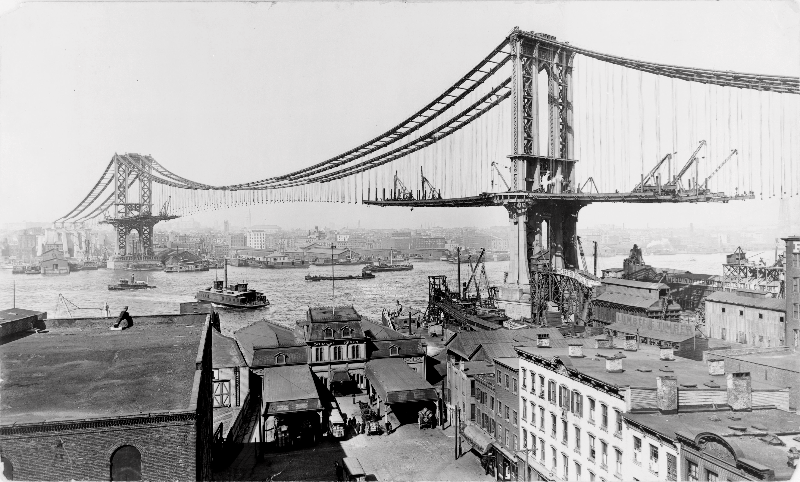 Manhattan Bridge Construction, 1909