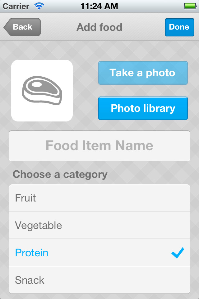 Next, click the Add Food button