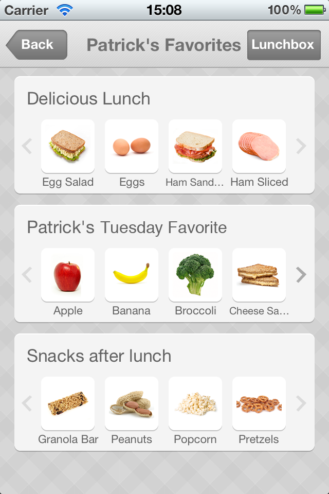 Save any meal as a favorite