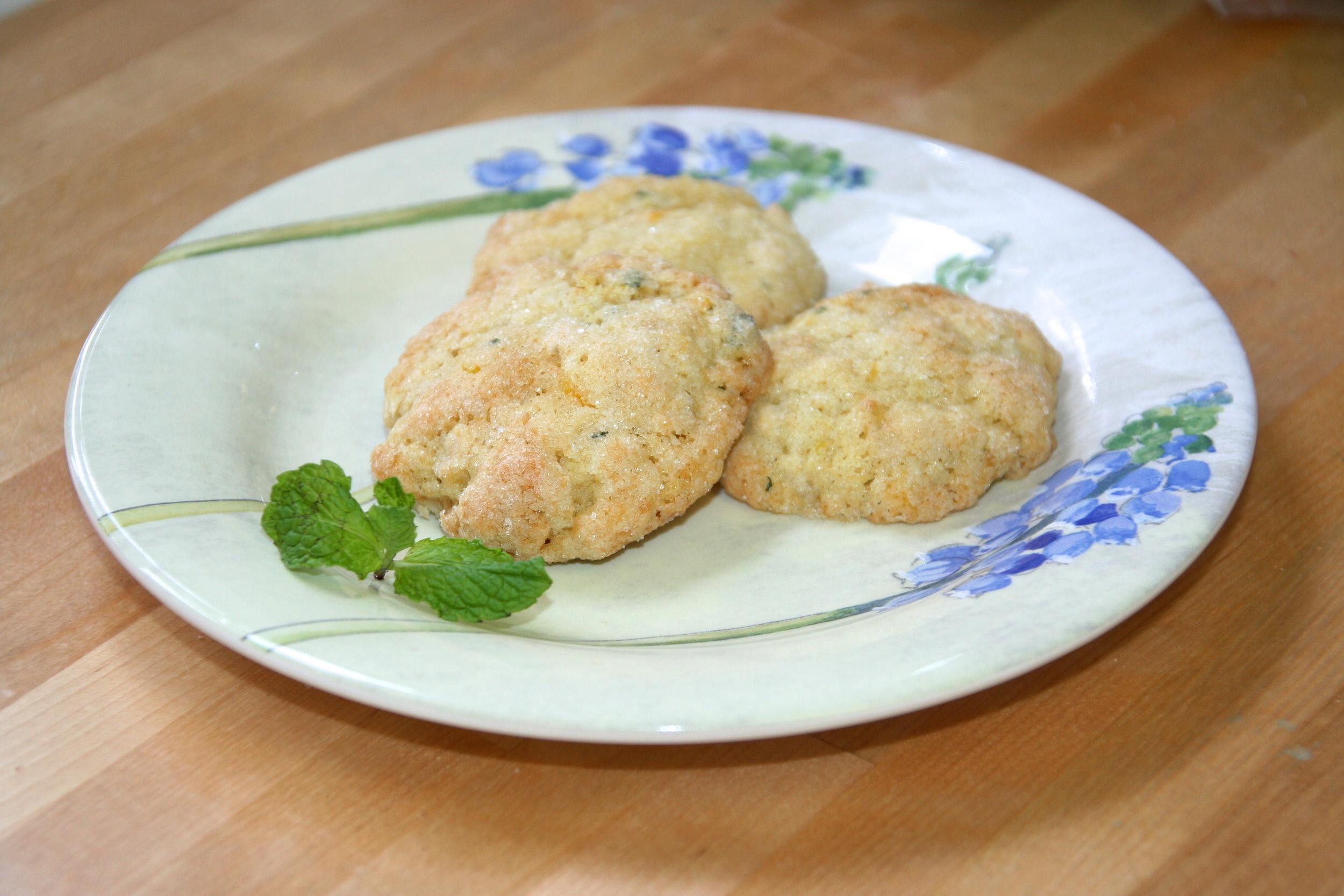 Orange Mint Olive Oil Cookies