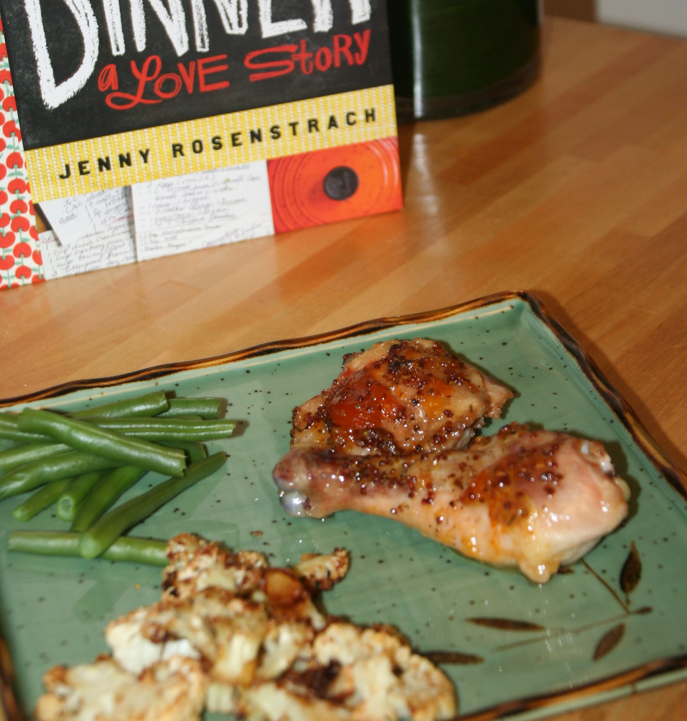 Apricot-Mustard Baked Chicken, courtesy of Dinner: A Love Story