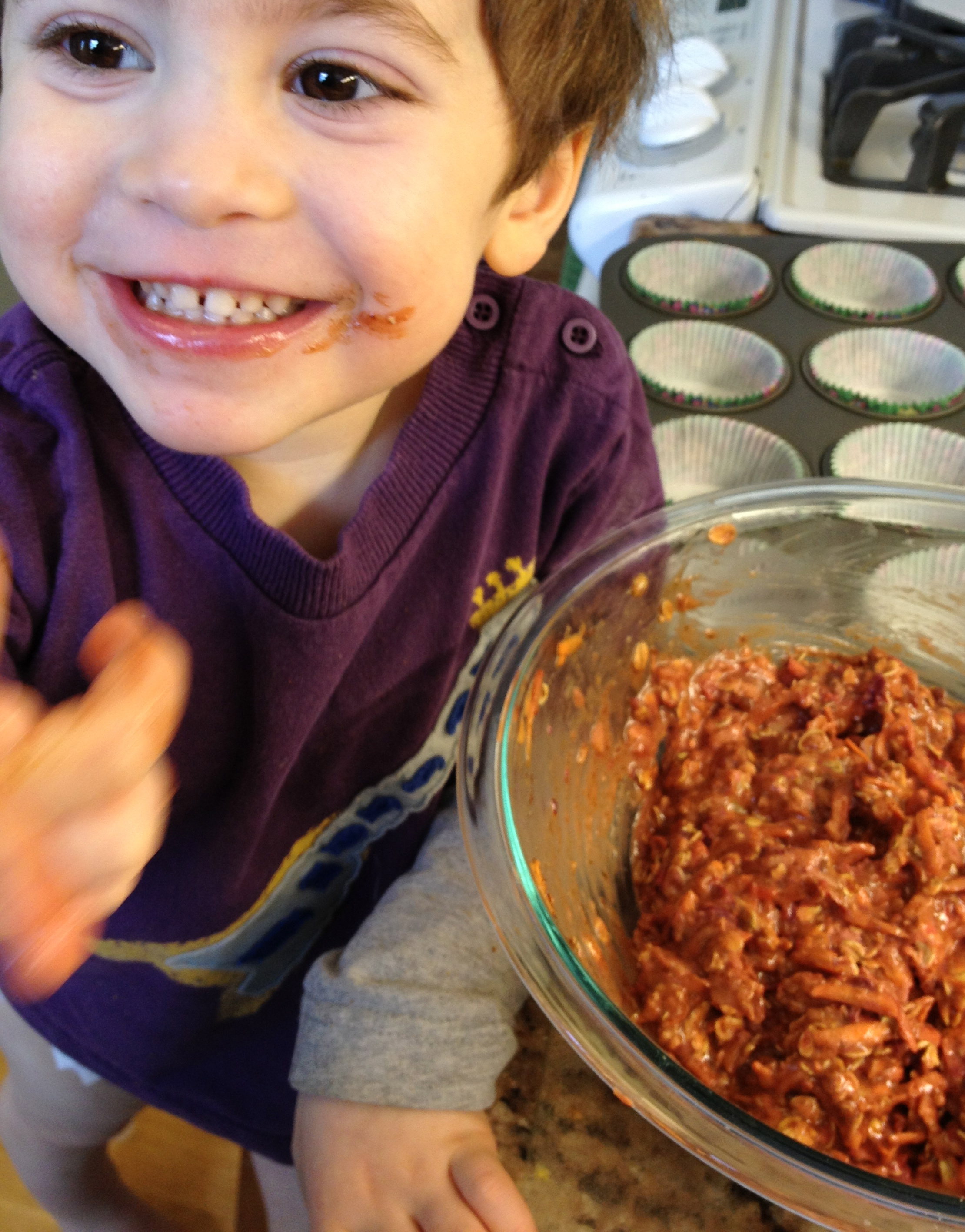 Cooking Banjo Muffins with My Toddler