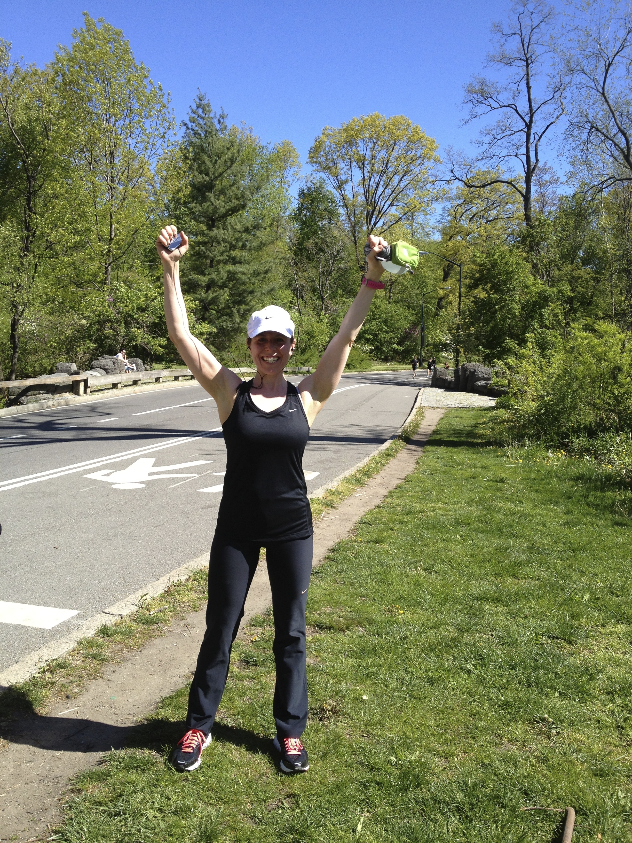 Me after our Hill Training workout on Harlem Hill