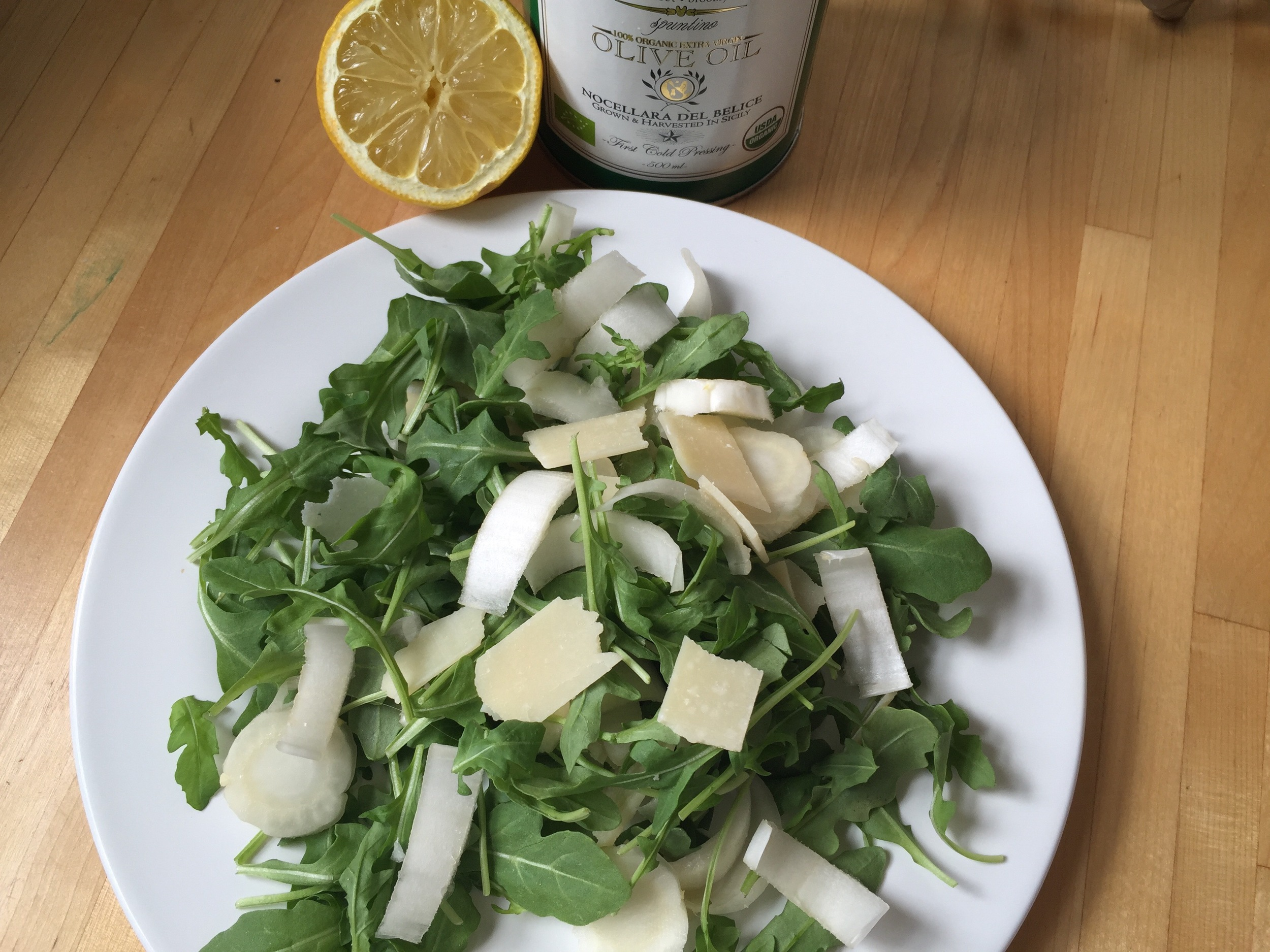 arugula salad with endive and parmesan