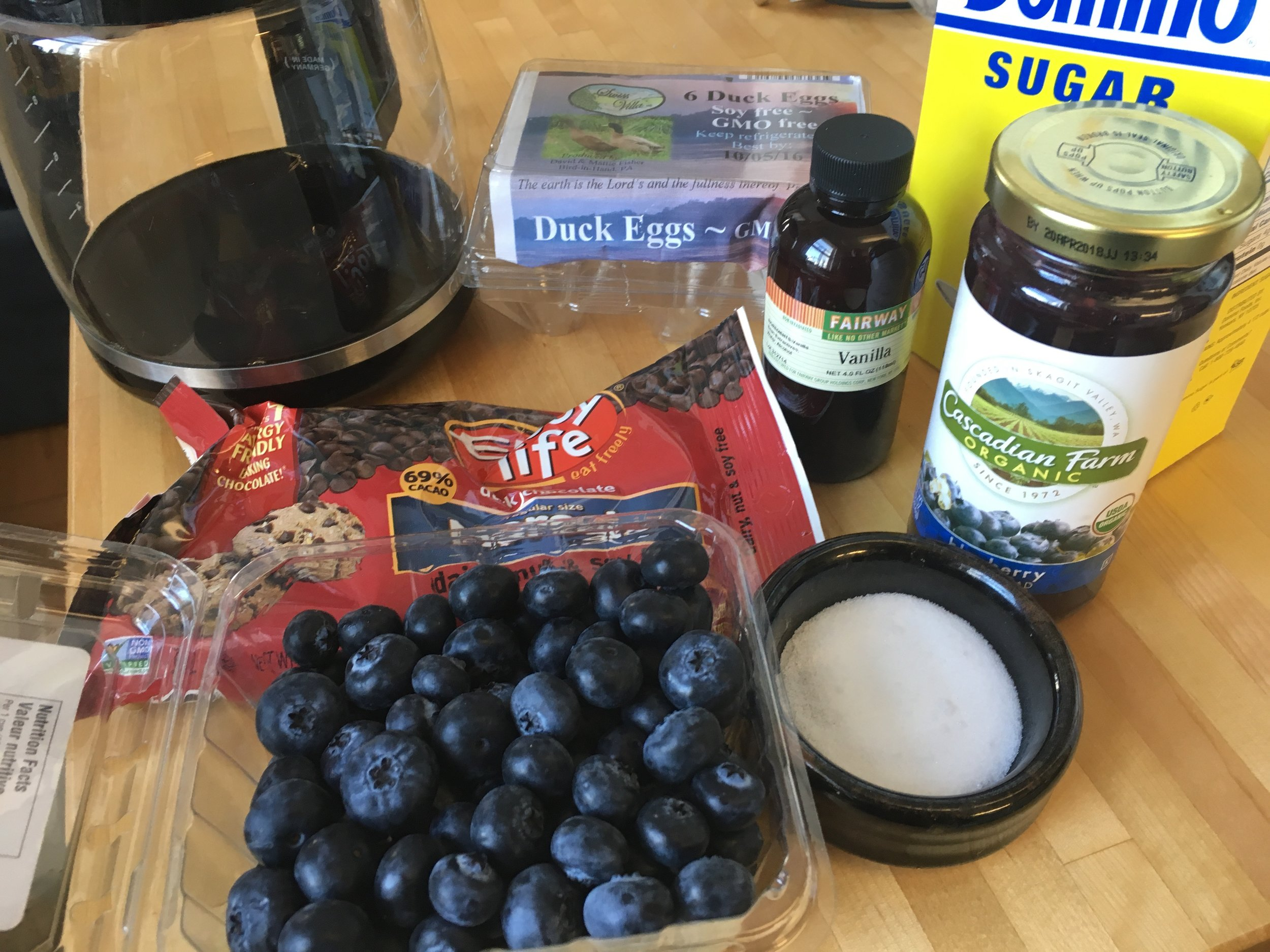 ingredients for gluten free chocolate roll
