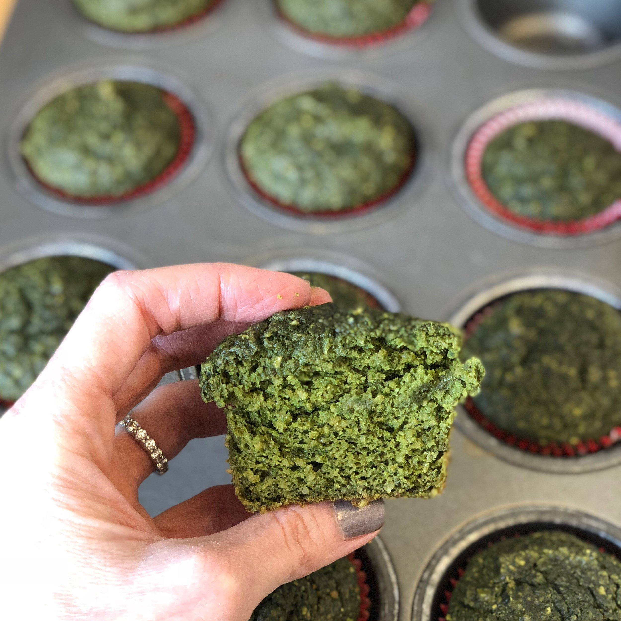 green powerhouse muffins