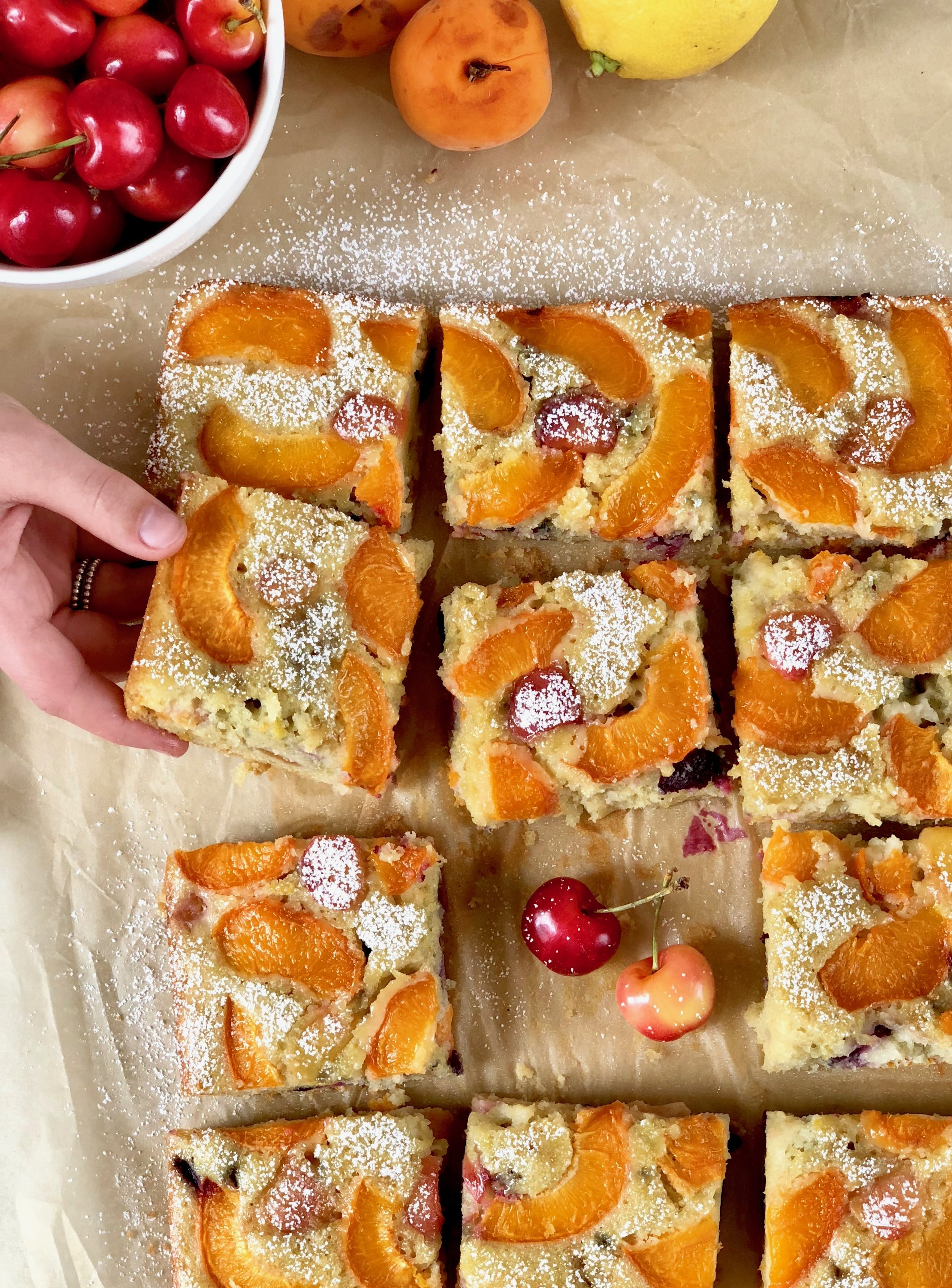 olive oil apricot cake