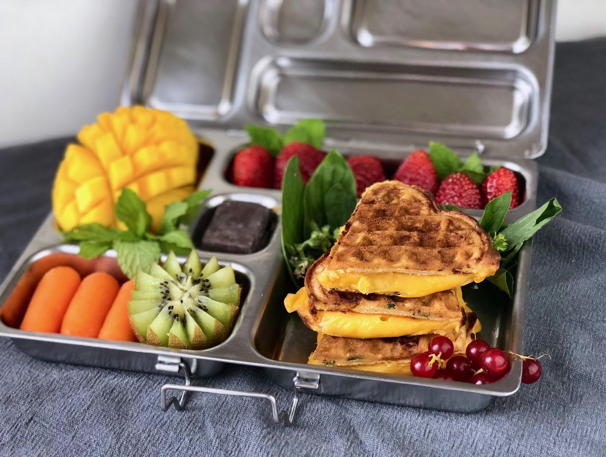 savory wafflewich lunchbox