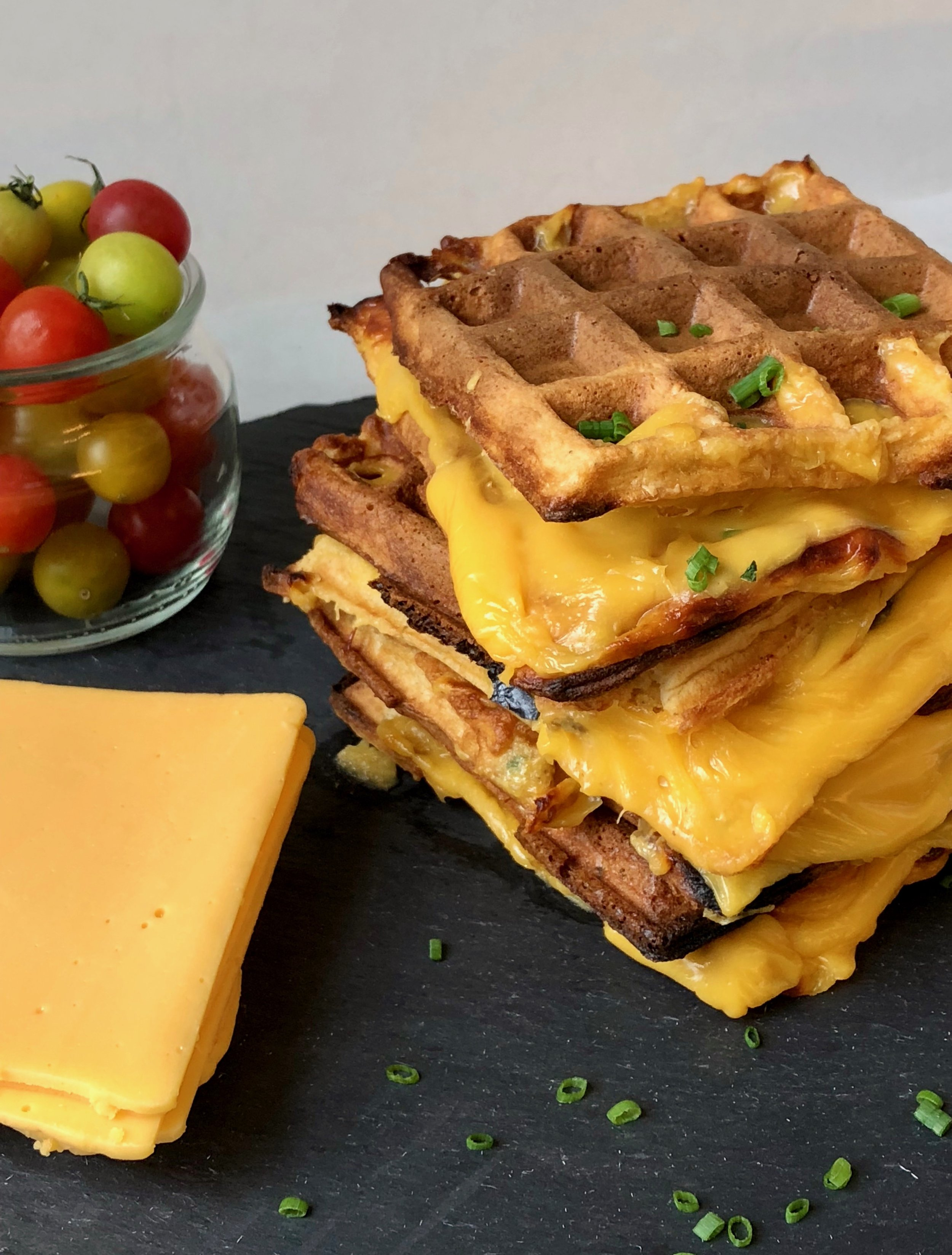 Grilled cheese wafflewich